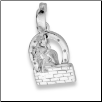 Sterling Silver Horse Jumping Wall Pendant and Chain
