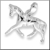 Sterling Silver Horse Pendant with Chain