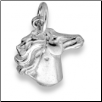 Sterling Silver Horse Head Pendant with Chain