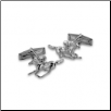Sterling Silver Horse and Jockey  swivel Cufflinks
