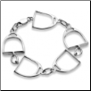 Sterling Silver Large Stirrup Bracelet
