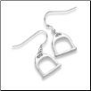 Sterling Silver Large Stirrup Hook Earrings