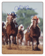"Alysheba 1987 Kentucky Derby 16"" x 20"" Signed Photograph"