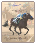 American Pharoah Triple Crown Collage 8×10 Signed
