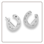 Sterling Silver Horseshoe Studs Errings