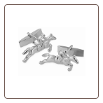 Sterling Silver Horse and Jockey Cufflinks