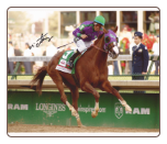California Chrome 2014 Kentucky Derby Finish Signed