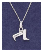 Sterling Silver Boots Pendant & Chain