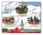 Secretariat, Seattle Slew and Affirmed TC Collage Signed