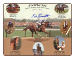 Secretariat 40th Anniversary Triple Crown Print Signed