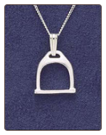Sterling Silver Stirrup Pendant & Chain