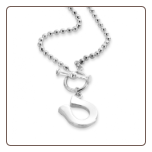 Horseshoe, T-Bar With Ball Chain Necklace